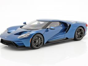 Ford GT year 2017 liquid blue 1:18 AUTOart