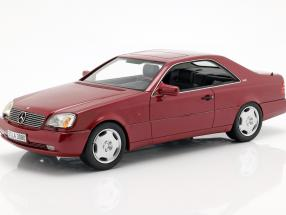 Mercedes-Benz 600 SEC (C140) year 1992 red metallic 1:18 Cult Scale