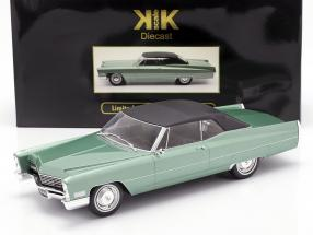 Cadillac DeVille Convertible with softtop 1968 light green metallic 1:18 KK-Scale
