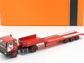 DAF 2800 Low-boy Trailer Mammoet year 1978 red 1:43 Ixo