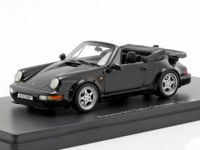 Porsche 911 (964) Turbo Cabriolet year 1993 black 1:43 AutoCult