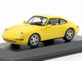 Porsche 911 (993) Construction year 1993 gelb 1:43 Minichamps