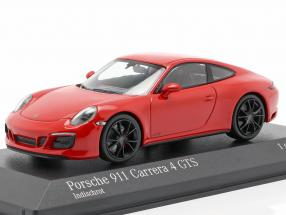 Porsche 911 (991 II) Carrera 4 GTS year 2017 guards red 1:43 Minichamps