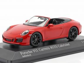 Porsche 911 (991 II) Carrera 4 GTS Cabriolet 2017 guards red 1:43 Minichamps
