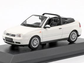 Volkswagen VW Golf IV Cabriolet year 1998 white 1:43 Minichamps