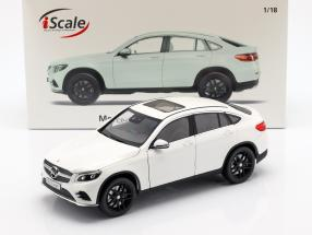 Mercedes-Benz GLC coupe year 2018 white 1:18 iScale