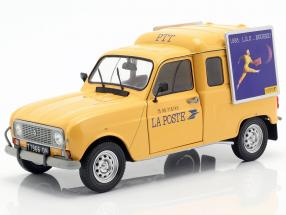 Renault 4LF4 La Poste year 1988 yellow 1:18 Solido