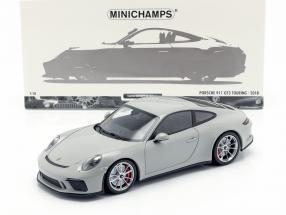 Porsche 911 (991 II) GT3 Touring year 2018 chalk grey 1:18 Minichamps