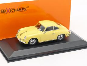 Porsche 356 B coupe year 1961 yellow 1:43 Minichamps