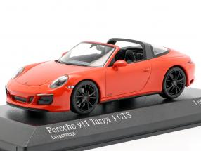 Porsche 911 (991 II) Targa 4 GTS year 2016 lava orange 1:43 Minichamps