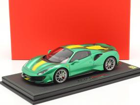 Ferrari 488 Pista Spider Closed Top Baujahr 2018 enzo grün metallic 1:18 BBR