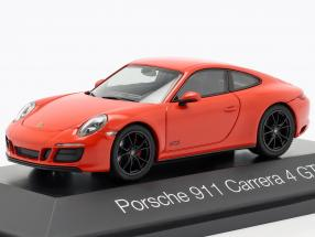 Porsche 911 (991 II) Carrera 4 GTS year 2017 lava orange 1:43 Herpa