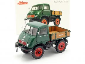 Mercedes-Benz Unimog 401 year 1953-56 green 1:18 Schuco