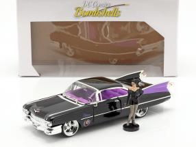 Cadillac Coupe DeVille 1959 with figure Catwoman DC Comics 1:24 Jada Toys