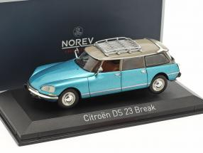 Citroen DS 23 Break year 1974 delta blue metallic 1:43 Norev