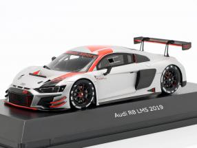 Audi R8 LMS 2019 Presentation Car silver / black / red 1:43 Spark