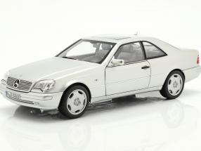 Mercedes-Benz CL600 Coupe (C140) year 1997 silver metallic 1:18 Norev