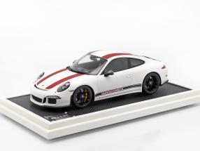 Porsche 911 (991) R Type year 2016 with showcase red / white 1:12 Spark