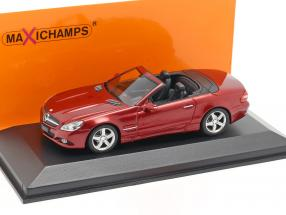 Mercedes-Benz SL-Class (R230) year 2008 red metallic 1:43 Minichamps