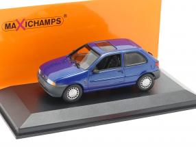 Ford Fiesta year 1995 blue metallic 1:43 Minichamps