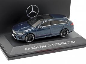 Mercedes-Benz CLA Shooting Brake (X118) year 2019 denim blue 1:43 Spark