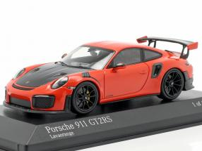Porsche 911 (991 II) GT2 RS year 2018 lava orange 1:43 Minichamps