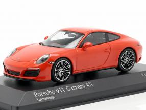 Porsche 911 (991 II) Carrera 4S year 2016 lava orange 1:43 Minichamps