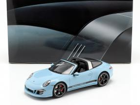 Porsche 911 (991) Targa 4S Year 2015 gulf blue With Showcase 1:18 GT-SPIRIT