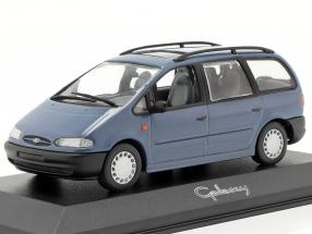 Ford Galaxy Year 1996 blue 1:43 Minichamps