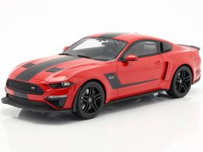 Roush Stage 3 Mustang year 2019 red / black 1:18 GT-SPIRIT
