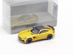 Mercedes-Benz AMG GT-R year 2017 yellow metallic 1:87 Minichamps