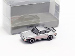 Porsche 911 Turbo (930) year 1977 silver 1:87 Minichamps