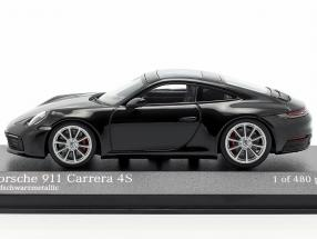 Porsche 911 (992) Carrera 4S year 2019 black metallic 1:43 Minichamps