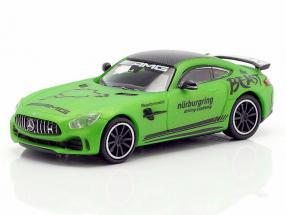 Mercedes-Benz AMG GT-R Ringtaxi year 2017 green metallic 1:87 Minichamps