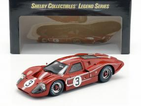 Ford GT40 MK IV #3 24h LeMans 1967 Andretti, Bianchi 1:18 ShelbyCollectibles