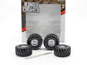 48-inch Monster Truck Firestone Wheel and Tire set 1:18 Greenlight