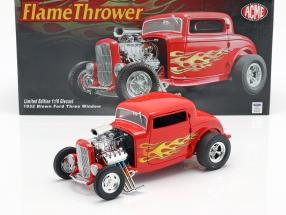 Blown Ford Three Window Flamethrower Hot Rod 1932 red 1:18 GMP