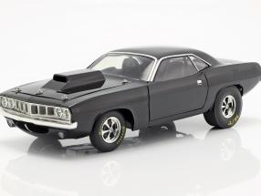 Plymouth Hemi Cuda Dragcar 1971 black 1:18 GMP