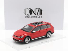 Volkswagen VW Golf 7 Alltrack Baujahr 2015 tornado rot 1:18 DNA Collectibles