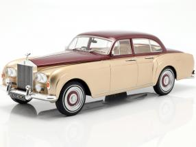 Rolls Royce Silver Cloud III Flying Spur by Mulliner 1965 gold / red 1:18 Model Car Group
