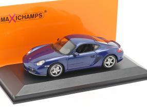 Porsche Cayman S (987c) Baujahr 2005 blau metallic 1:43 Minichamps
