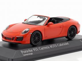 Porsche 911 (991 II) Carrera 4 GTS Cabriolet 2016 lava orange 1:43 Minichamps