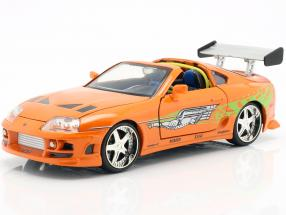Brian's Toyota Supra 1995 Movie Fast & Furious (2001) with figure 1:24 Jada Toys