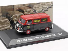 Fiat 600 van Mokarabia year 1958 red / black 1:43 Altaya