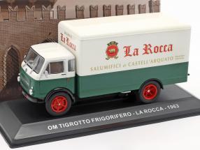 OM Tigrotto van La Rocca year 1963 white / green 1:43 Altaya