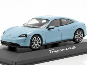 Porsche Taycan 4S year 2019 frozen blue metallic 1:43 minichamps