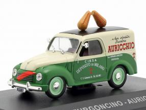 Fiat 500C van Auricchio year 1951 cream white / green 1:43 Altaya