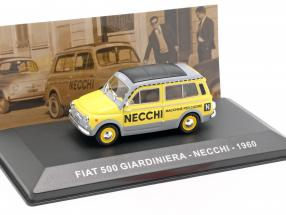 Fiat 500 Giardiniera Necchi  year 1960 yellow / grey 1:43 Altaya