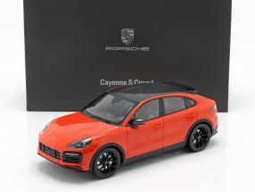 Porsche Cayenne S Coupe year 2019 lava orange 1:18 Norev