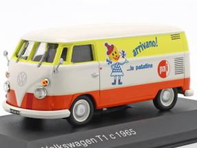 Volkswagen VW T1c bus year 1965 white / orange / yellow 1:43 Altaya